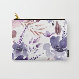 Watercolor giant flowers Carry-All Pouch