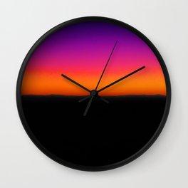Horizon Line in Sunset Wall Clock