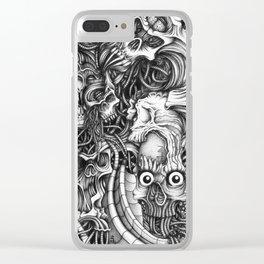 Skull Vortex Clear iPhone Case