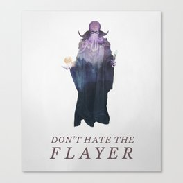 Mind Flayer (Typography) Canvas Print