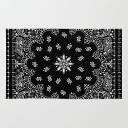 black and white bandana pattern Rug