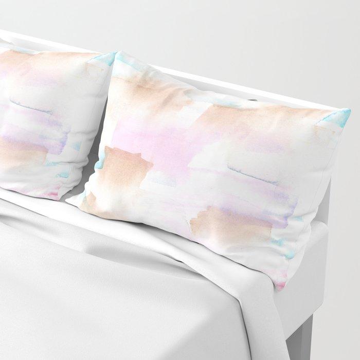 170527 Back to Basic Pastel Watercolour 11   |Modern Watercolor Art | Abstract Watercolors Pillow Sham