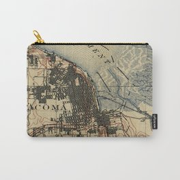 Vintage Map of Tacoma Washington (1895) Carry-All Pouch