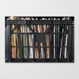 Vinyl DJ Crate Canvas Print