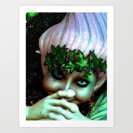 A Faerie For Spring Art Print