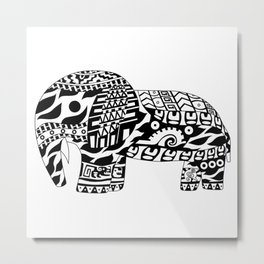 Elephant Ecopet Metal Print