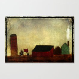 Americana Barnyard with Tractor Canvas Print