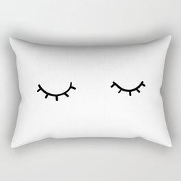 Closed eyes, just eyelashes Rectangular Pillow