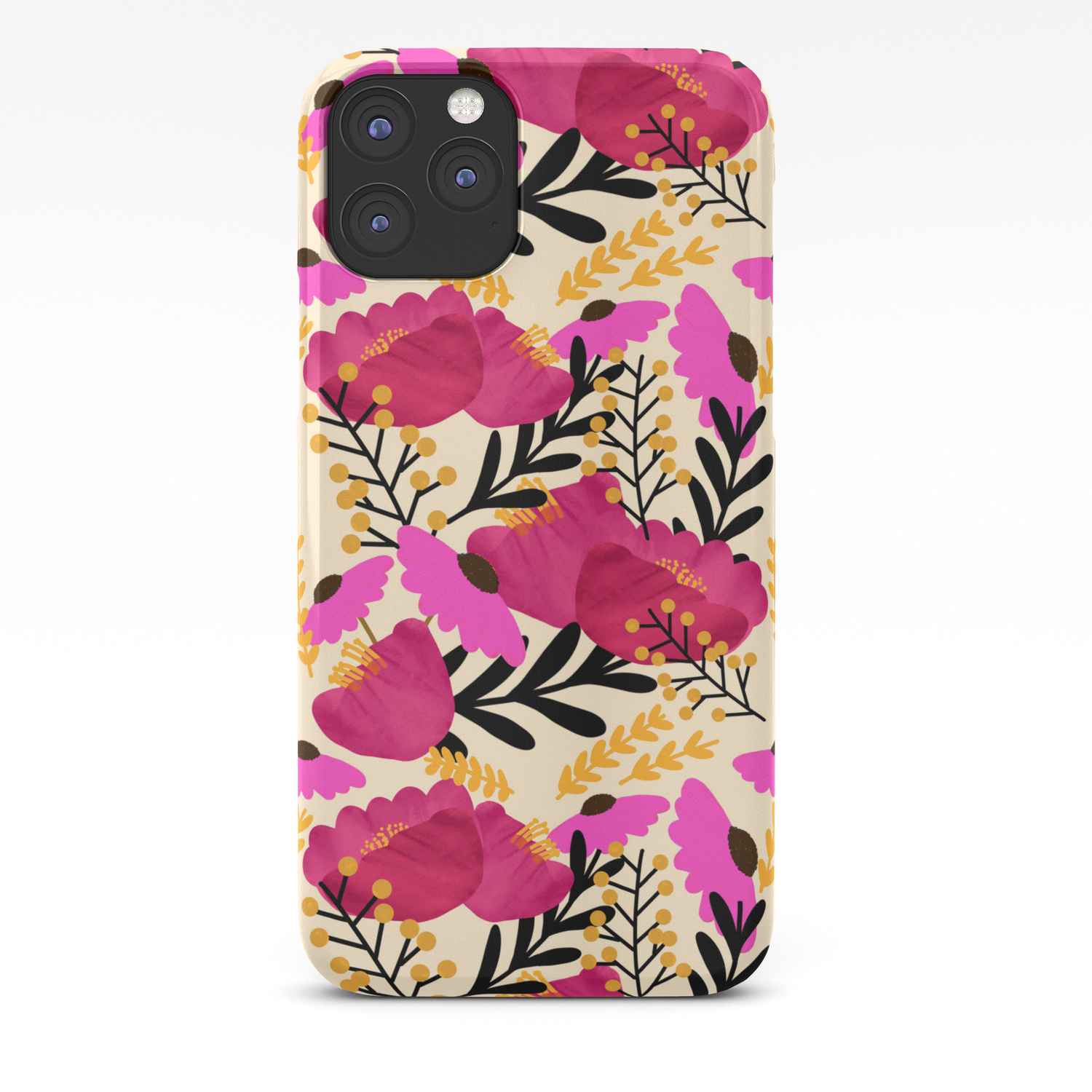 Vibrant Floral Wallpaper Iphone Case By Thestephlloyd Society6