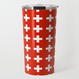 flag of switzerland 2-Switzerland, Alps,swiss,Schweizer,suisse,zurich,bern,geneva Travel Mug