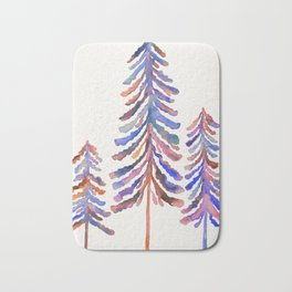 Pine Trees – 90s Color Palette Bath Mat