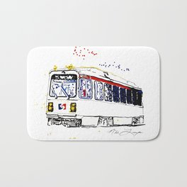 Septa Trolley Art: Philly Public Transportation Bath Mat