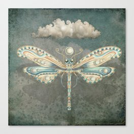 Dragonfly of the moon Canvas Print