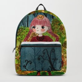 Tippy Nobrow Cute Autumn Girl Backpack