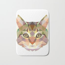 Geometric Cat Face Bath Mat