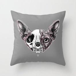 Shynx Half Skull Throw Pillow