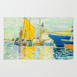 Henri-Edmond Cross Neo-Impressionism Pointillism Venice-The Giudecca Watercolor Painting Rug