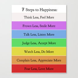 7 Steps to Happiness Canvas Print