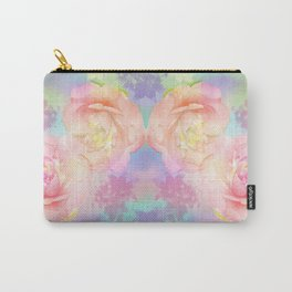 Romantic Camellia's and Lillies with a pastel background Carry-All Pouch