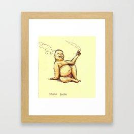 Smoking Budda Framed Art Print