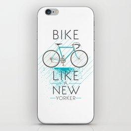 Bike like a new yorker iPhone Skin