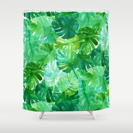 Welcome to the Jungle Palm Shower Curtain