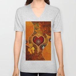 Steampunk, wonderful steam heart Unisex V-Neck