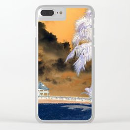 Change of Summer color Clear iPhone Case