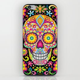 Sugar Skull Art (Spark) iPhone Skin