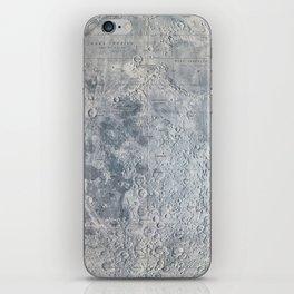 Vintage Lunar Moon Map, 1960s iPhone Skin