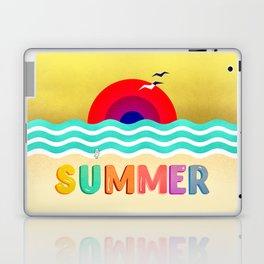 #037 HOT SUMMER on the beach Laptop & iPad Skin