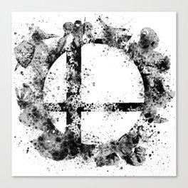 Super Smash Bros Ink Splatter Canvas Print