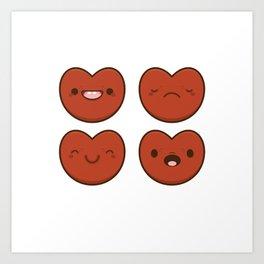 #11 Hearts Art Print