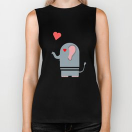 Elephant in love Biker Tank
