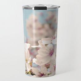 Spring, Flower Photography, Pastel, Pink, Romantic Cherry Blossom, Art Deco - 8 x 10 Wall Decor Travel Mug