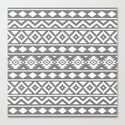 Aztec Essence Ptn III White on Grey by nataliepaskell