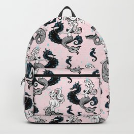 Pearla the Mermaid on Pink Backpack