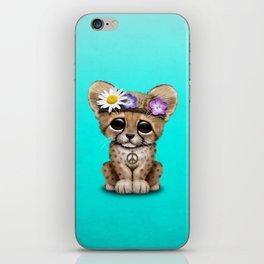 Cute Baby Cheetah Hippie iPhone Skin