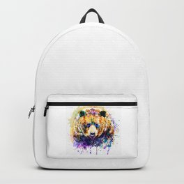 Colorful Grizzly Bear Backpack