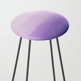 Purple Watercolor Design Counter Stool
