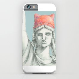 Liberty in PINK skyblue iPhone Case
