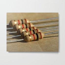 10 Ohm Resistors, Macro Metal Print