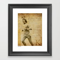 The King - Jeff Astle Framed Art Print