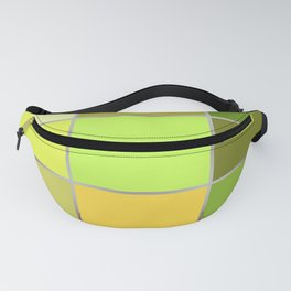 The bright green patchwork Fanny Pack