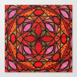 Red Zen Love Canvas Print