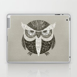 Wise Old Owl Says Laptop & iPad Skin