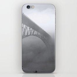 Foggy Deception Pass, Washington iPhone Skin
