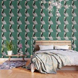 Brown Pelican Upstanding Wallpaper