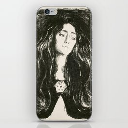 Edvard Munch - The Brooch, Eva Mudocci, 1903 iPhone Skin