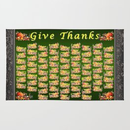 Give Thanks Rug
